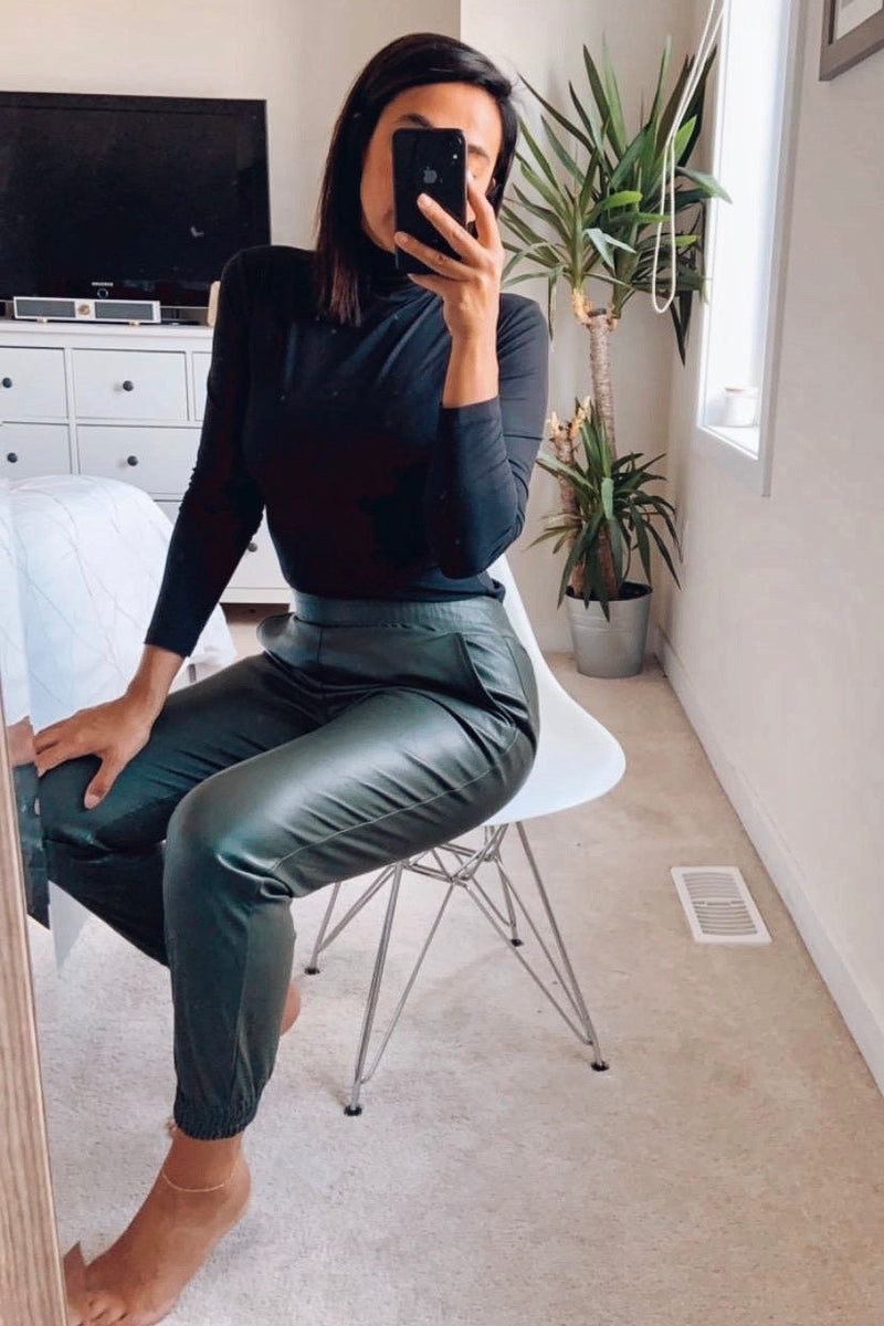 Rivers Vegan Leather Jogger