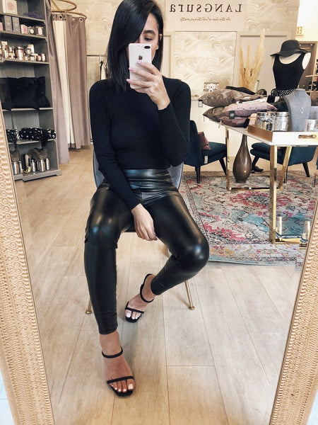 Clinton Vegan Leather Leggings