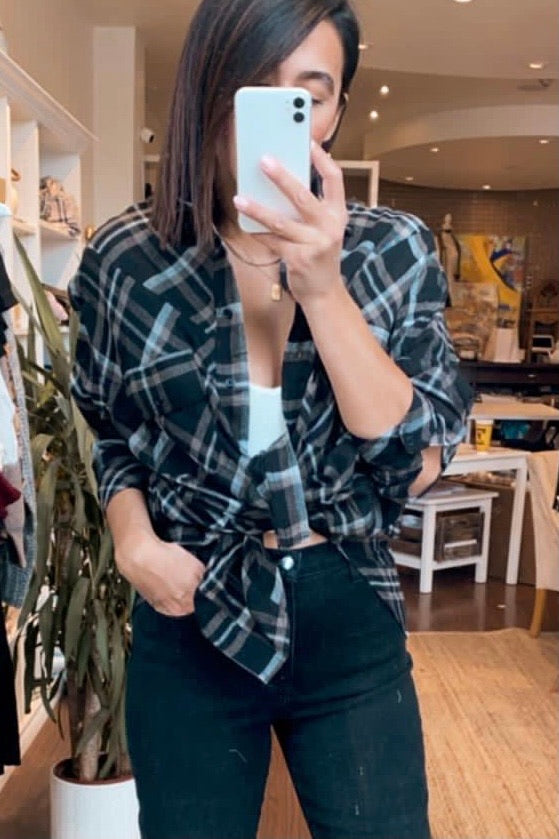Veronica Plaid Top