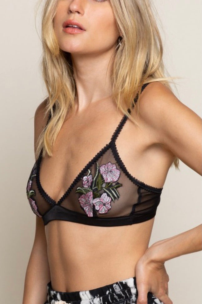 Flowers & Lace Bralette