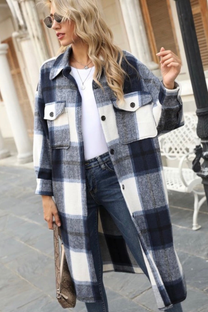 Evelyn Plaid Jacket