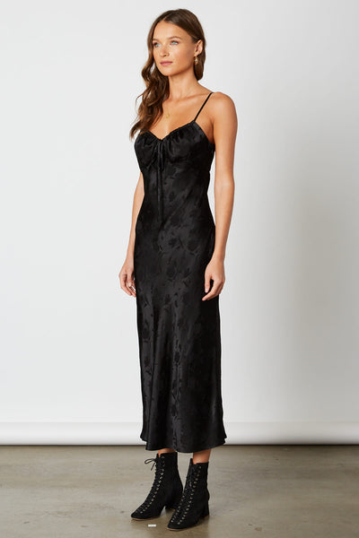 Black Rose Slip Dress