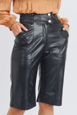 Polly Faux Leather Shorts