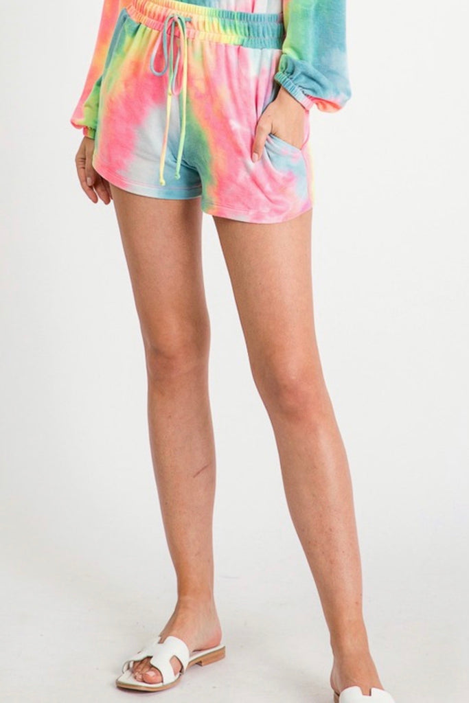 PREORDER Peace Tie Dye Shorts