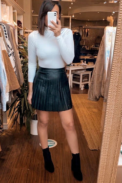 Babette Vegan Leather Skirt