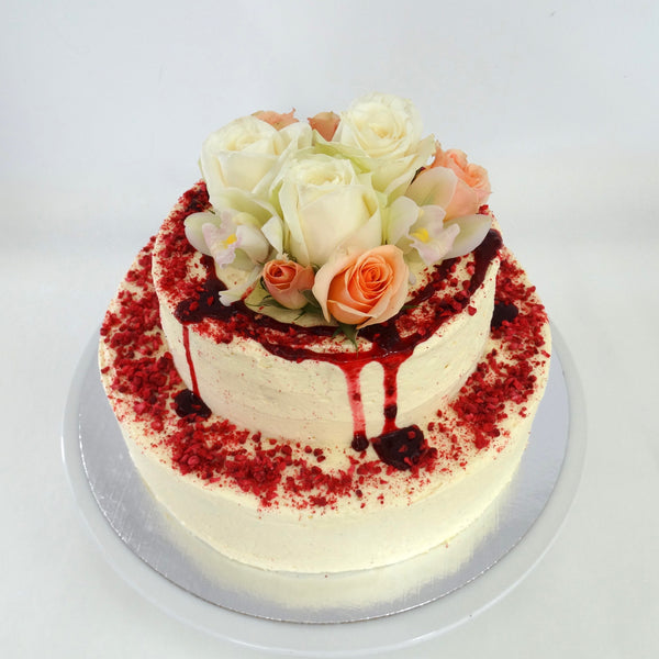 TWO-TIERED CAKE of any flavour (to feed around 35-40) - The Caker  - 1