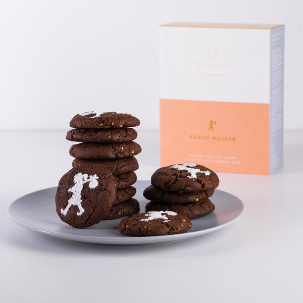 The Caker x Karen Walker: Peanut Butter Dark Chocolate Cookie Mix