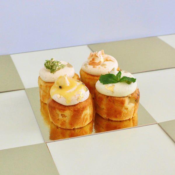 Mango Minicakes in Four Flavours **AVAILABLE 16-21st October ONLY**