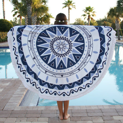 Round Beach Blanket Towel Atlantis Lulu Pool