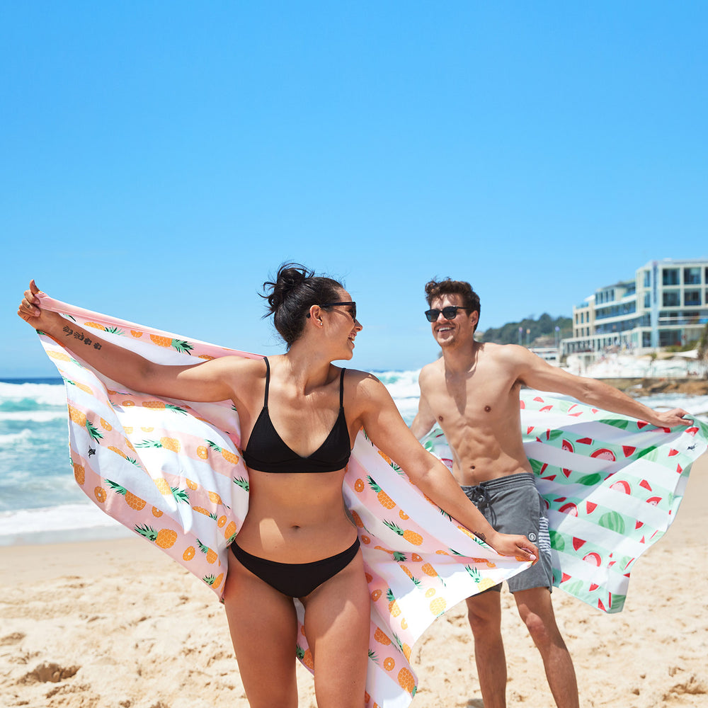 Playful Pineapple Beach Towel