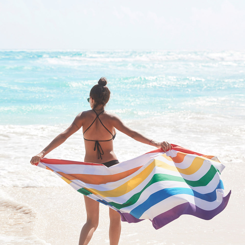 Rainbow Skies Beach Towel