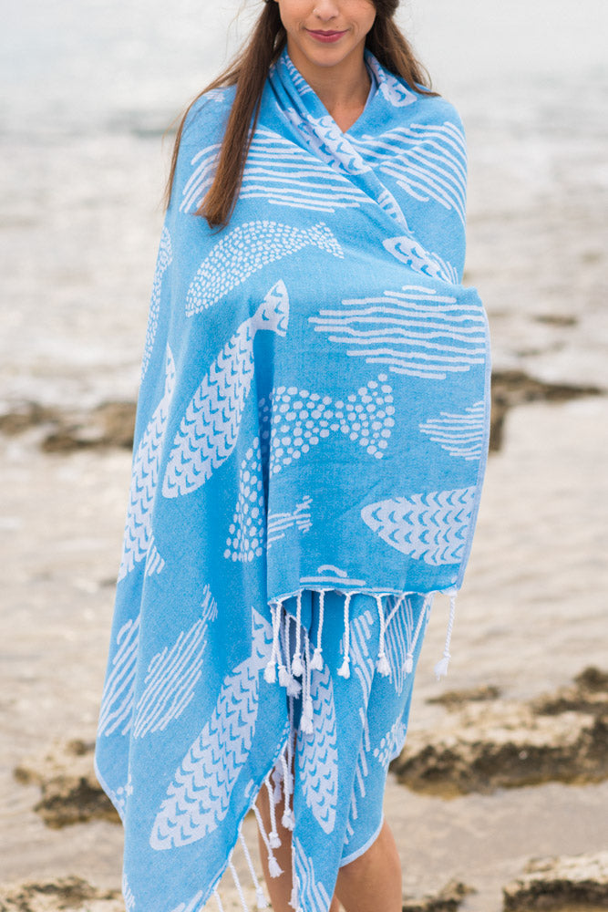 Arpheggi Aqua Fish Turkish Towel