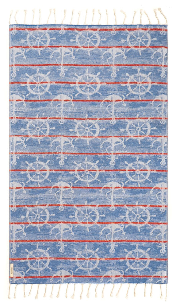 Nautica Blue Turkish Towel