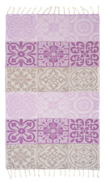 Mosaic Purple Turkish Towel