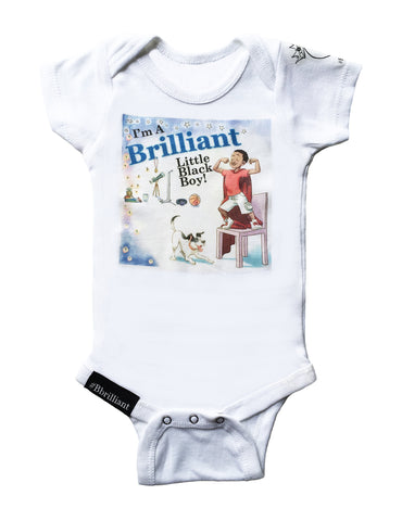 Brilliant Baby Onesies for I'm A Brilliant Little Black Boy! (PreOrders, allow 10 days for delivery)