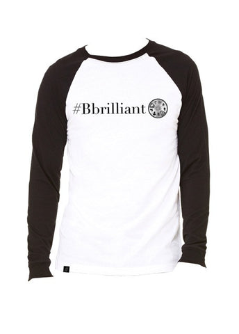 #BBRILLIANT MEN'S BASEBALL LONG SLEEVE TEE  (AVAILABLE TO SHIP)