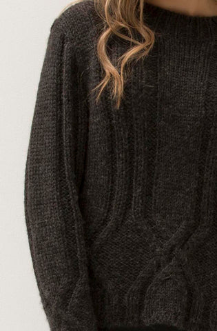 ESENCIA Dorothy Sweater CHARCOAL