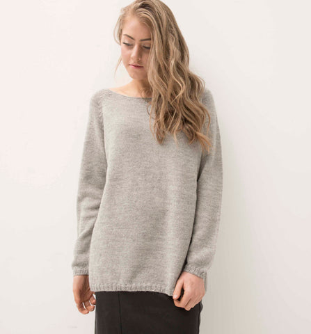 ESENCIA Alpaca Sweater Mary DOVE GREY