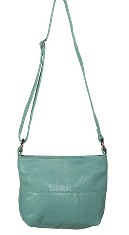 Love THAT leather Mini Slouchy SEA GREEN