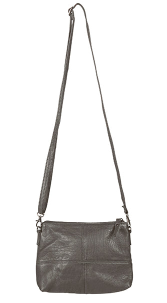 Love THAT leather Pouch Bag CHARCOAL