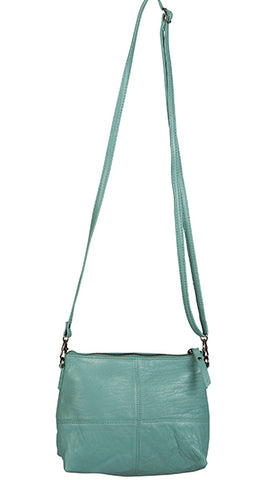 Love THAT leather Pouch Bag SEA GREEN