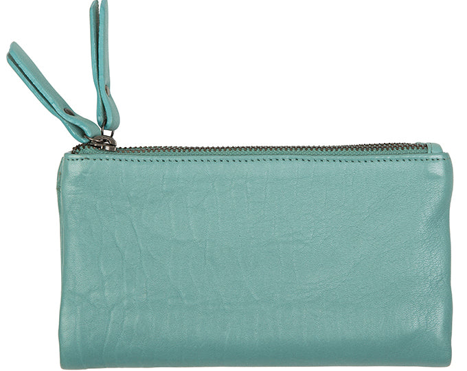 Love THAT leather Soft Wallet SEA GREEN