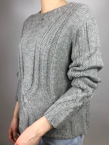 ESENCIA Alpaca Dorothy Sweater DOVE GREY