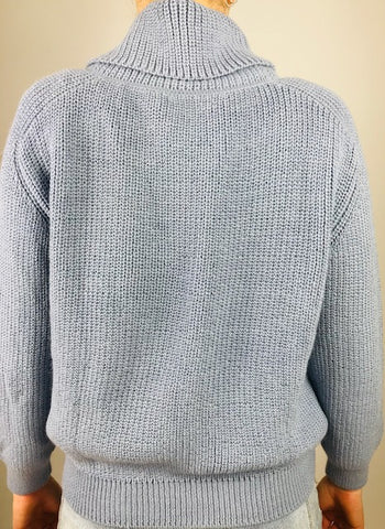 ESENCIA Sweater Meggie WATER BLUE