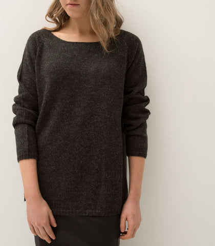 ESENCIA Alpaca Sweater Mary CHARCOAL