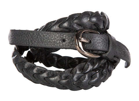 Love THAT leather thin woven belt