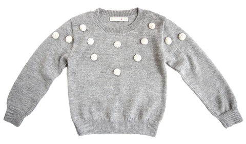 ESENCIA Alpaca Sweater Dots DOVE GREY