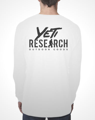 Yeti Research Co. - White Long Sleeve Research Tee
