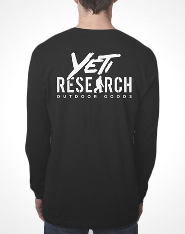 Yeti Research Co. - Black Long Sleeve Research Tee