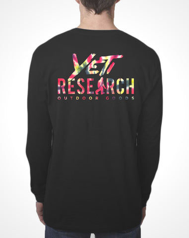 Yeti Research Co. - Tie Dye Print Long Sleeve Research Tee