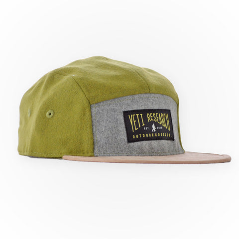 Yeti Research Co. - Green Wool 5 Panel