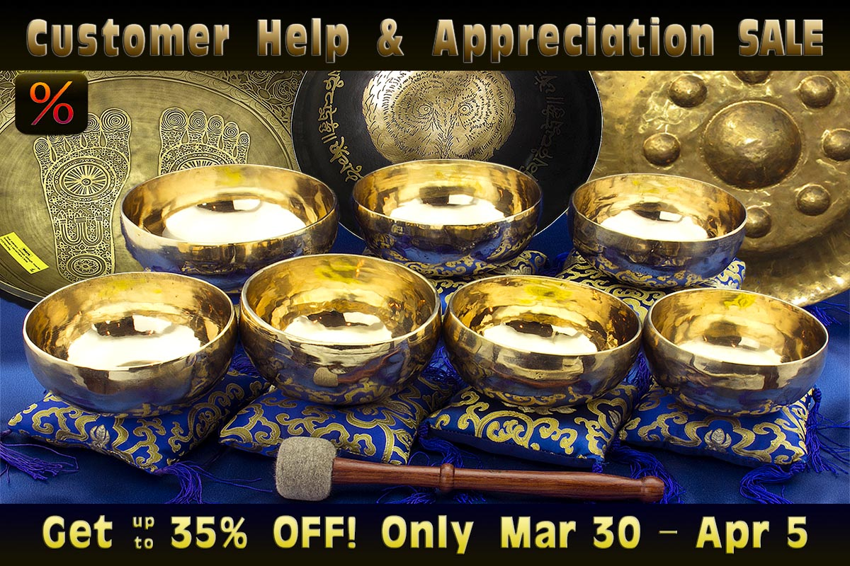 Customer Support & Appreciation Sale at Heaven of Sound - 7 days with up to 35% off on Singing Bowls