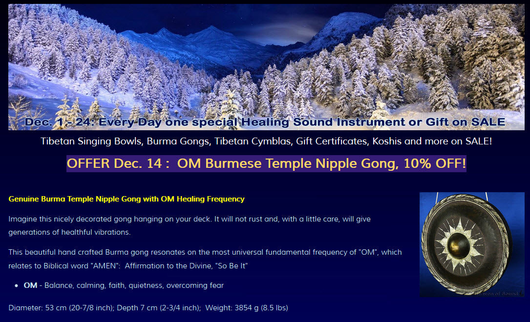 Holiday Daily 24 hour-OFFER for Dec 14: OM Burmese Temple