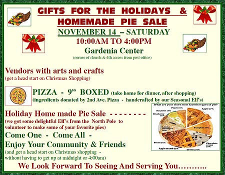 Gardenia Center Holiday Sale Nov. 14, 2015