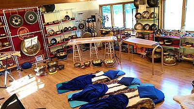 Inside of Sound Healing Academy Heaven of Sound