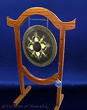 Burma gong with Custom made Gong Stand from solid Mahogany