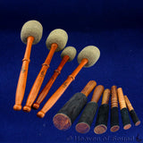 Felt mallets and leaher sticks (strikers)