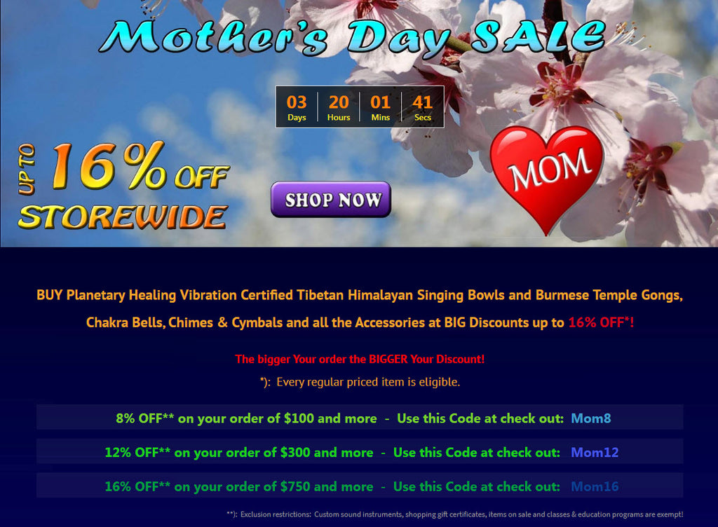 Mother's Day SALE 2018 at Heaven of Sound