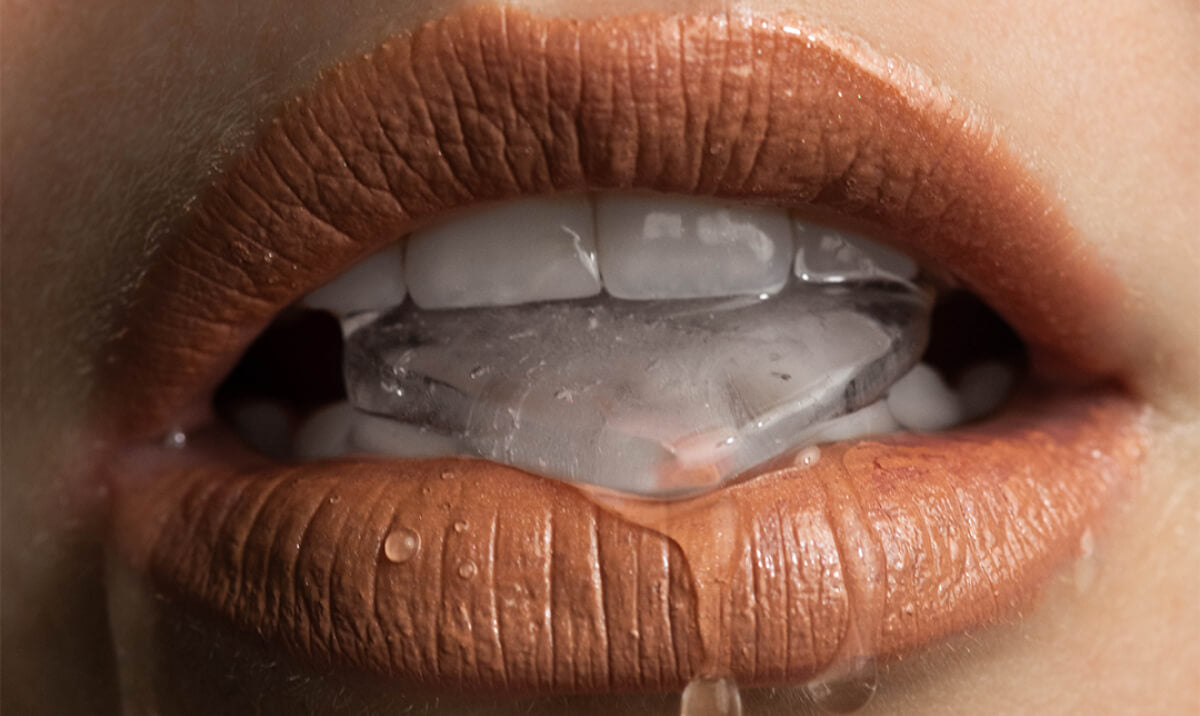 Chewing ice is a dangerous dental habit to have