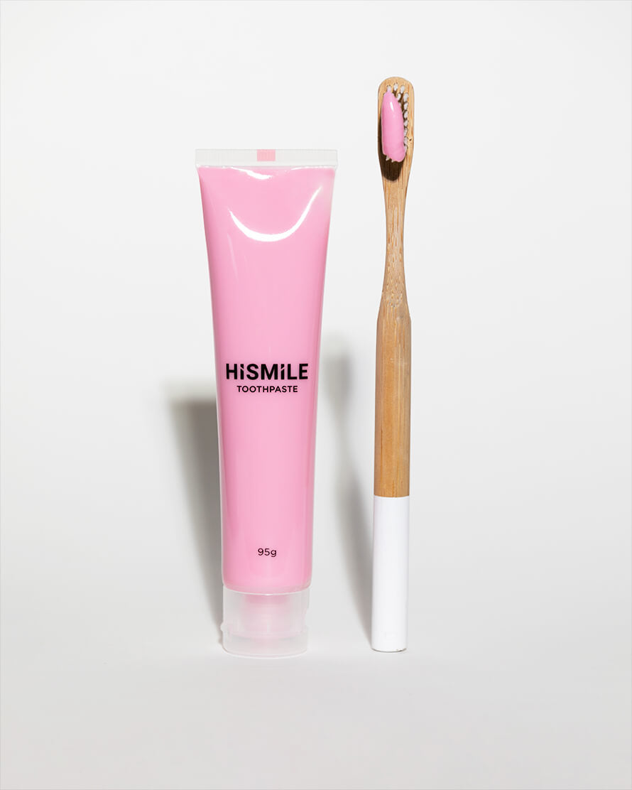 HiSmile's Pink Toothpaste With A Toothbrush
