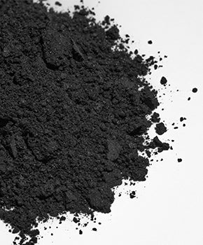 A pile of activated charcoal similar to that used in teeth whitening products.