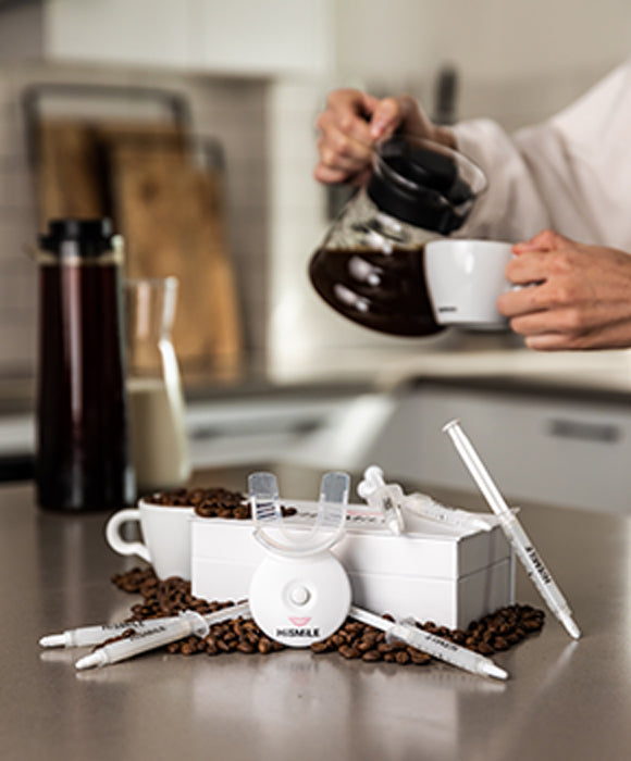 Teeth whiening kits are popular for coffee lovers