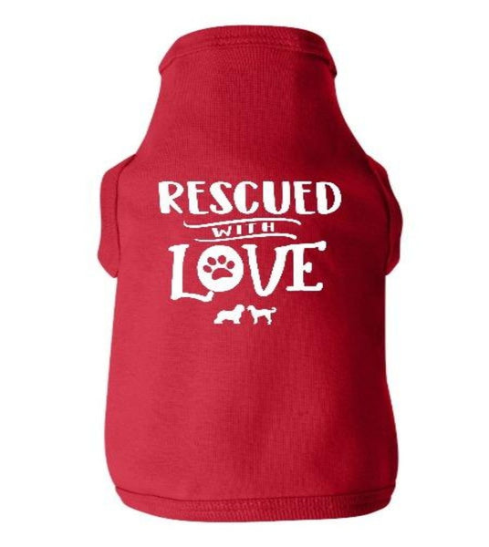 Rescued with Love Doggie Tee