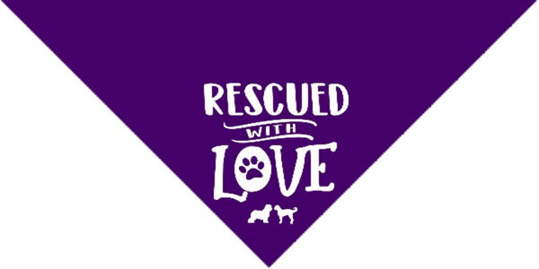 Rescued with Love Bandana - Large
