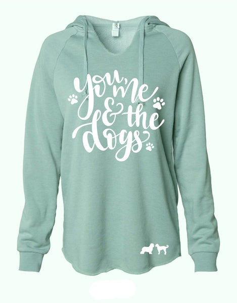 You, Me, and the Dogs Women's Hooded Sweatshirt