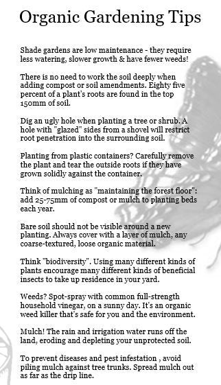 Organic Gardening Tips - Garden Show Tract - Verity & Charity Publications